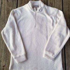 Spyder White quarter zip Fleece size Small